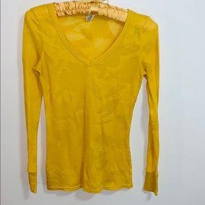 BKE  Gold Long Sleeve Ribbed Pattern Shirt Sweater